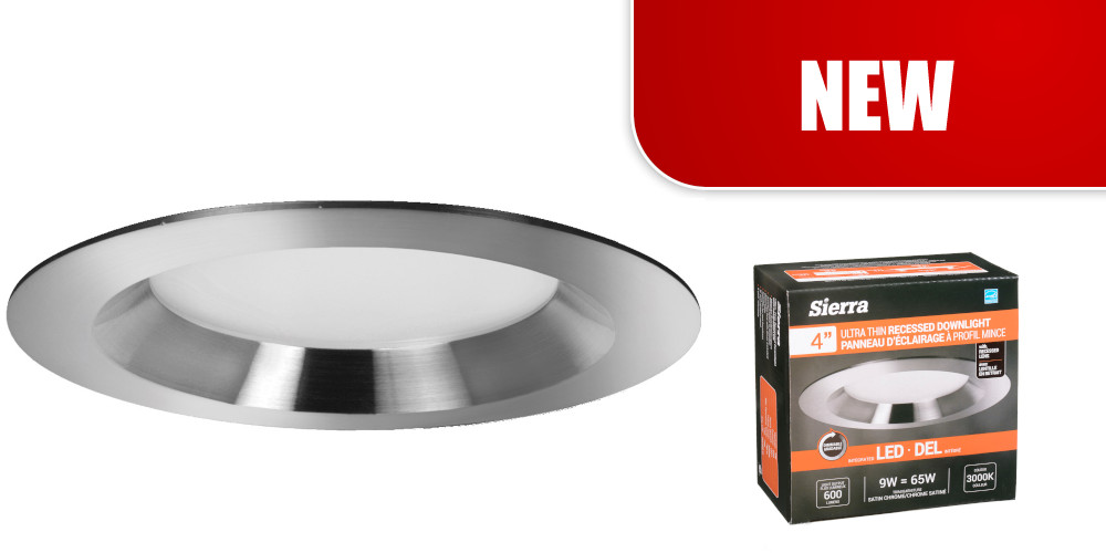 """Introducing the 4""""           Ultra Thin Recessed Downlight w/Recessed Lens"""