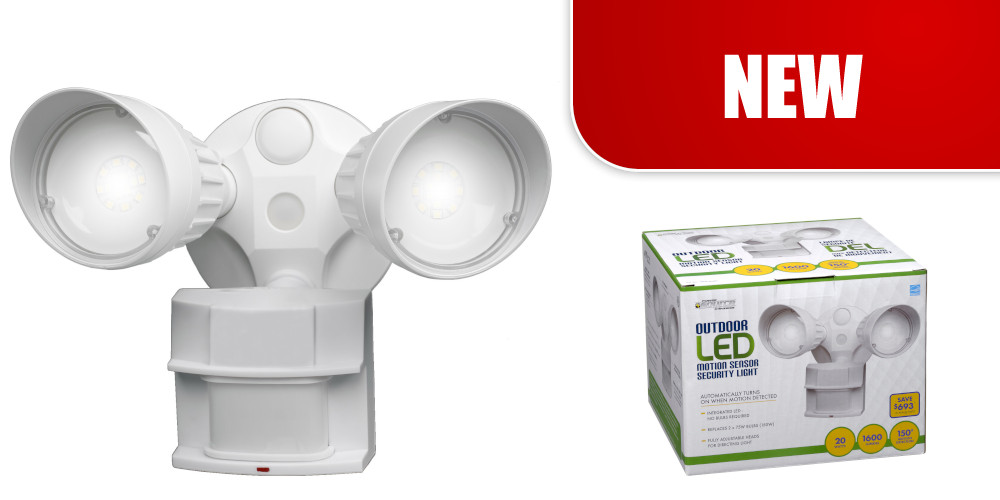 Non-Metallic LED Motion Sensor Security Light